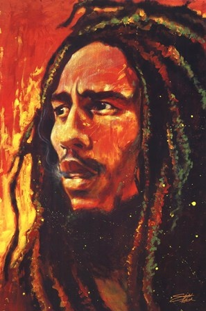 Bob Marley by Stephen Fishwick #reggae #music #art