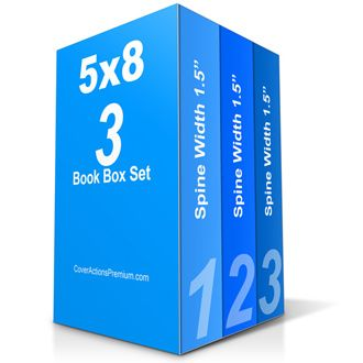 1.5″ spine width thick 5 x 8 inches portrait orientation 3 Book Box Set mockup Photoshop Cover Actions to showcase exactly & particularly 3 book box set cover package. Ready-made PSD template is included. Thick 5×8 Inches 3 Book Box Set Cover Actions end results (rendered using default starter template):  Click HERE to enlarge. […]