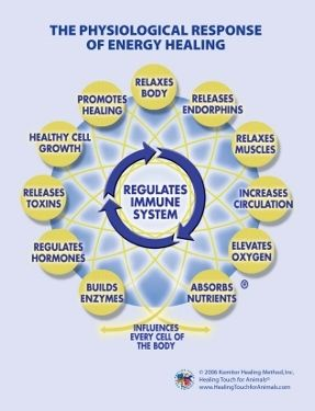 The physiological response of energy healing.