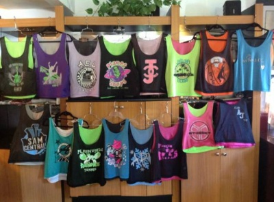 Jaylor Party Favors is offering a summer special on Bar Bat Mitzvah pinnies and jerseys.