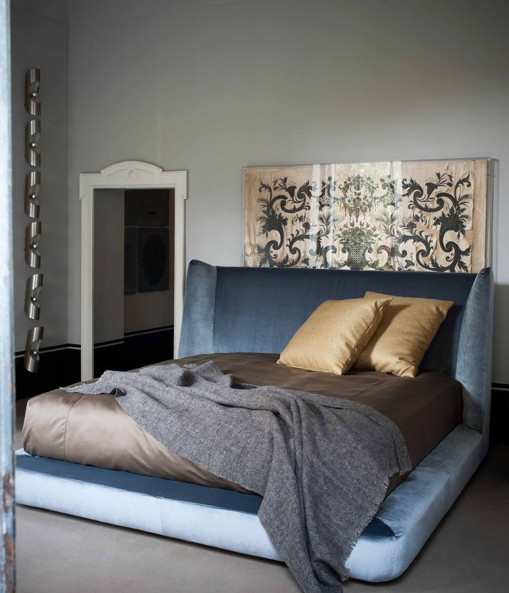 Flexform MOOD MIDNIGHT #bed #design Roberto Lazzeroni