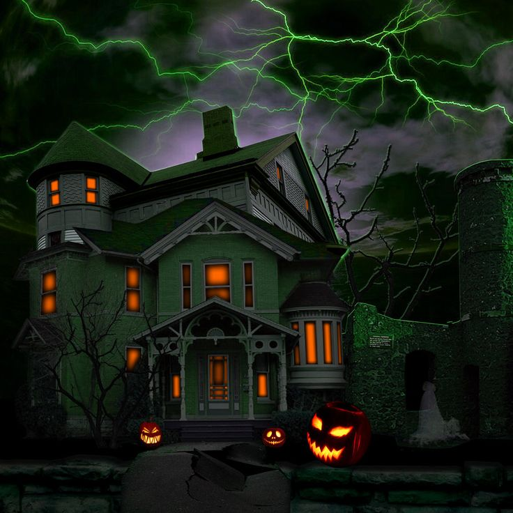Haunted houses haunted house by the blind artist digital for Pinterest haunted house
