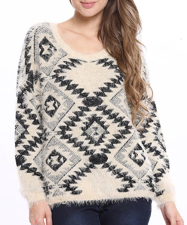 Look at this Stella Morgan: Beige Aztec Jumper on #zulily today!