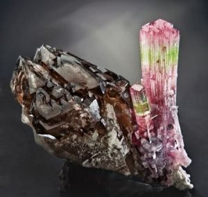 Tourmaline and Smoky Quartz from Afghanistan by worldexpat / Mineral Friends <3