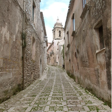 Erice - a medieval village at the top of a hill in Sicily