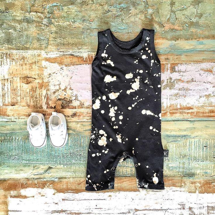 Cool Baby Clothes ~ NUNUNU black splash overalls & Converse baby Chucks [shop link below]  www.tinystyle.com.au