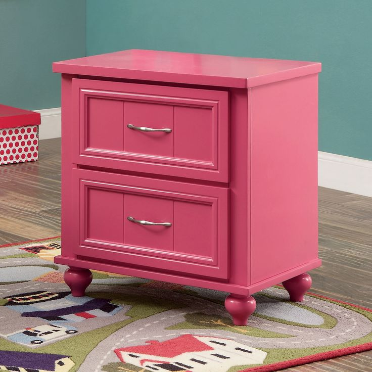 Conroy Contemporary Nightstand in Pink