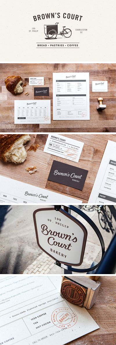 Browns Court Bakery, restaurant's visual identity.