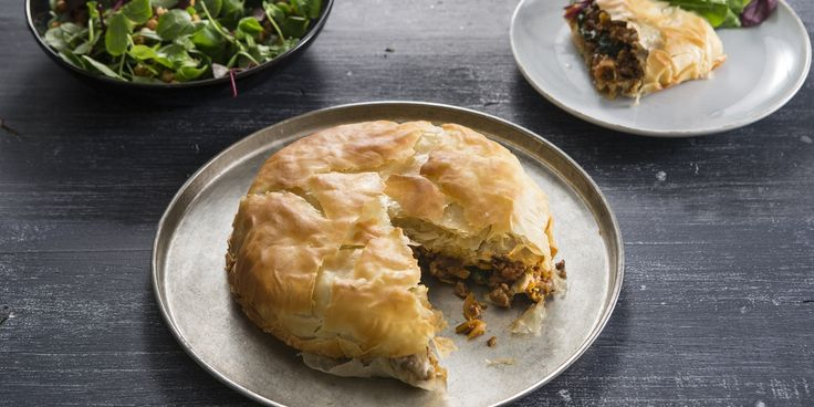A Moroccan filo lamb pie recipe with a spiced lamb and apricot filling from chef Russell Brown.