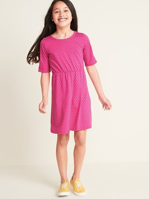 Fit & Flare 1/2-Sleeve Jersey Dress for Girls – Products