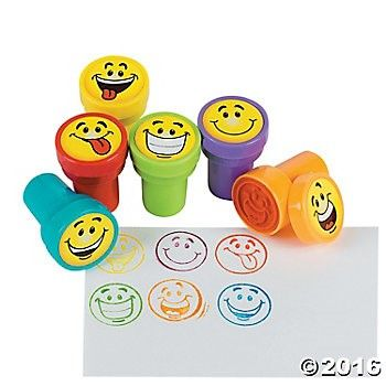 Emoji Self Inking Stampers - 24 Pack Party Supplies Canada - Open A Party