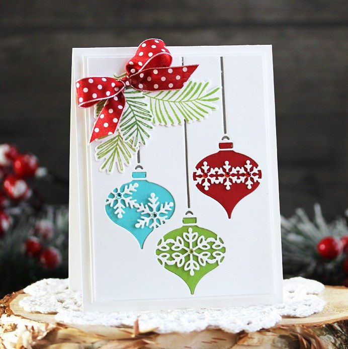 Today I'm sharing a Christmas card that is both festive and easy to mass produce!  With just a few Birch Press Design Holiday Dies and matching stamp set, I created a card that is colorful, f…