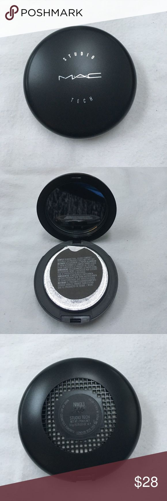 MAC NW33 studio tech foundation New, never used, packaging still sealed as pictured, last photo is nw33 shade from mac's website MAC Cosmetics Makeup Foundation