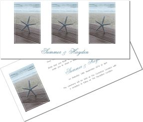 Perfect for a Beach Wedding. To order or see more go to: www.allyourinvites.com.au