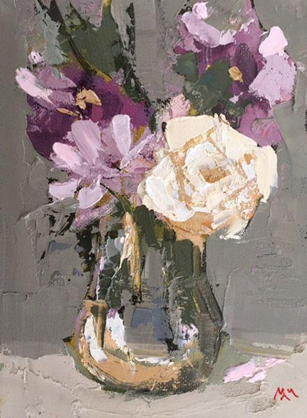 Martin Mooney Still Life Painting of Roses