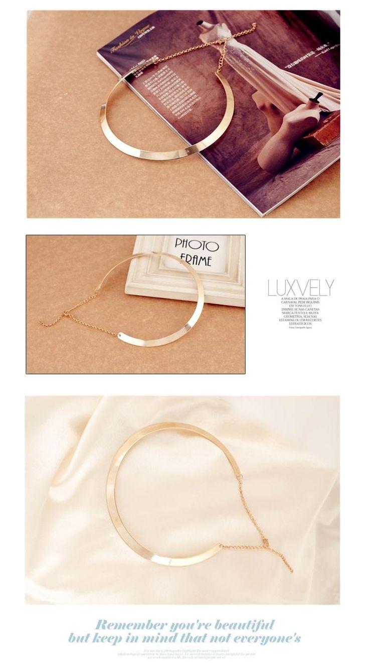 Мода Внесении простая форма текстуры металла воротник ожерелье (узкая модель из золота) бесплатная Доставка 2016 Новых ожерелья Ювелирных Изделий X107 купить на AliExpress