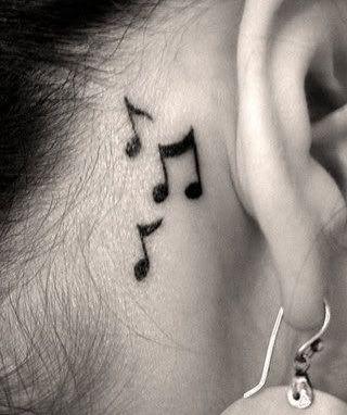Impermeabile autoadesivo Del Tatuaggio Temporaneo 10.5*6 cm musica nota nota musicale di Trasferimento Dell'acqua del tatuaggio di falsificazione tattoo flash per la ragazza donna uomo