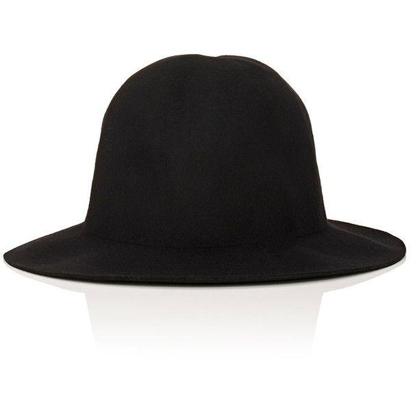 Comme des Garçons SHIRT Men's Wool Felt Hat (€120) ❤ liked on Polyvore featuring men's fashion, men's accessories, men's hats, black, mens wool hats, mens wide brim hats, mens wool felt fedora hats and mens hats