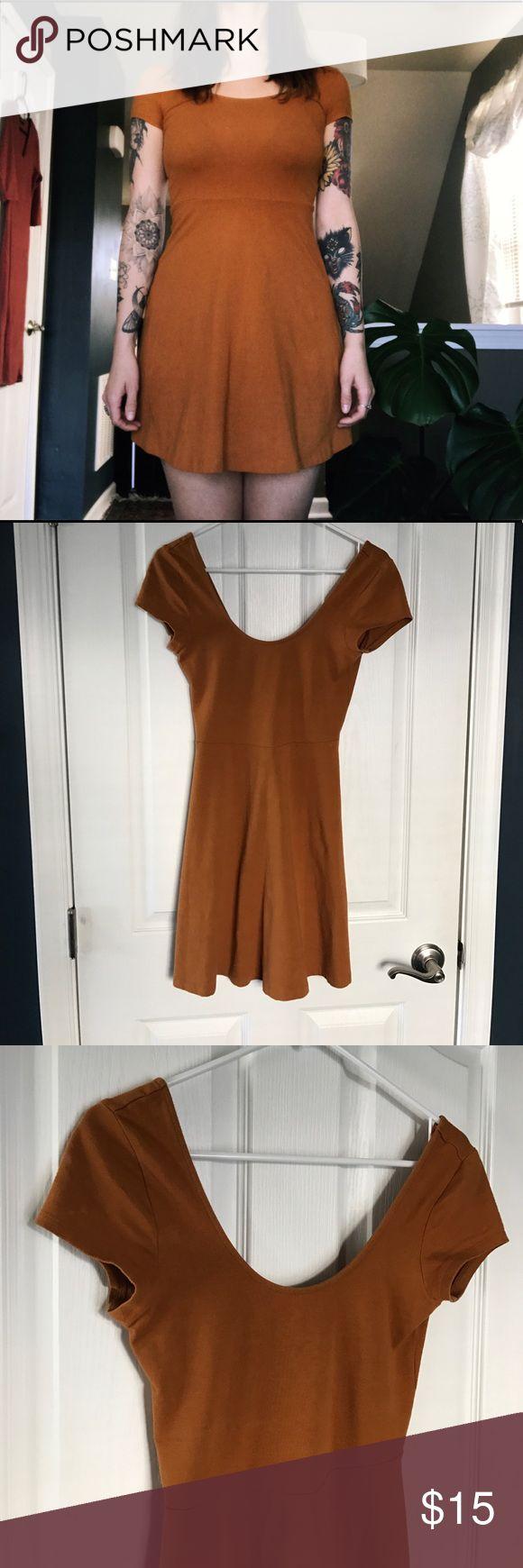 Forever 21 Camel Cap Sleeve Dress Forever 21-I love h81 Camel colored mini. Cap Sleeves Forever 21 Dresses Mini