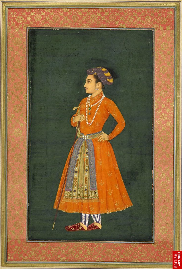 A newly-identified portrait of Prince Dara Shikoh who was executed in 1659, at the request of his younger brother and new emperor Aurangzeb (ruled 1658-1707). Murar, 1631-32.