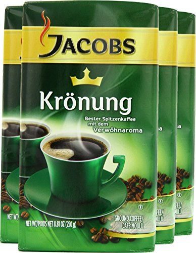 Jacobs Kronung Coffee 8 81 Ounce Vacuum Packs Pack Of 4 In 2018 Beans Best Offers Pinterest And