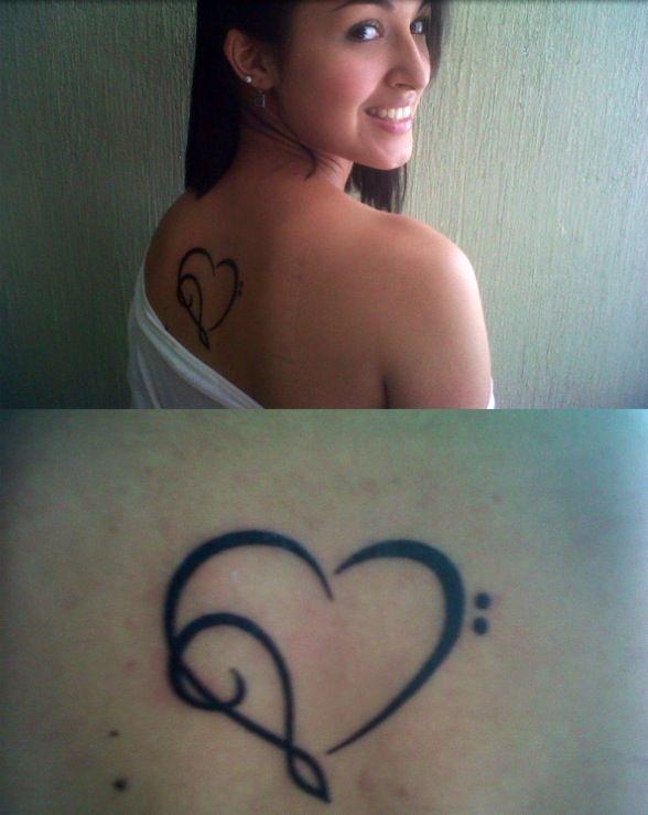 Love for music, heart tattoo. #hearttattoo #tattoo #upperbacktattoo #music #musictattoo #backtattoo #musicjunkie