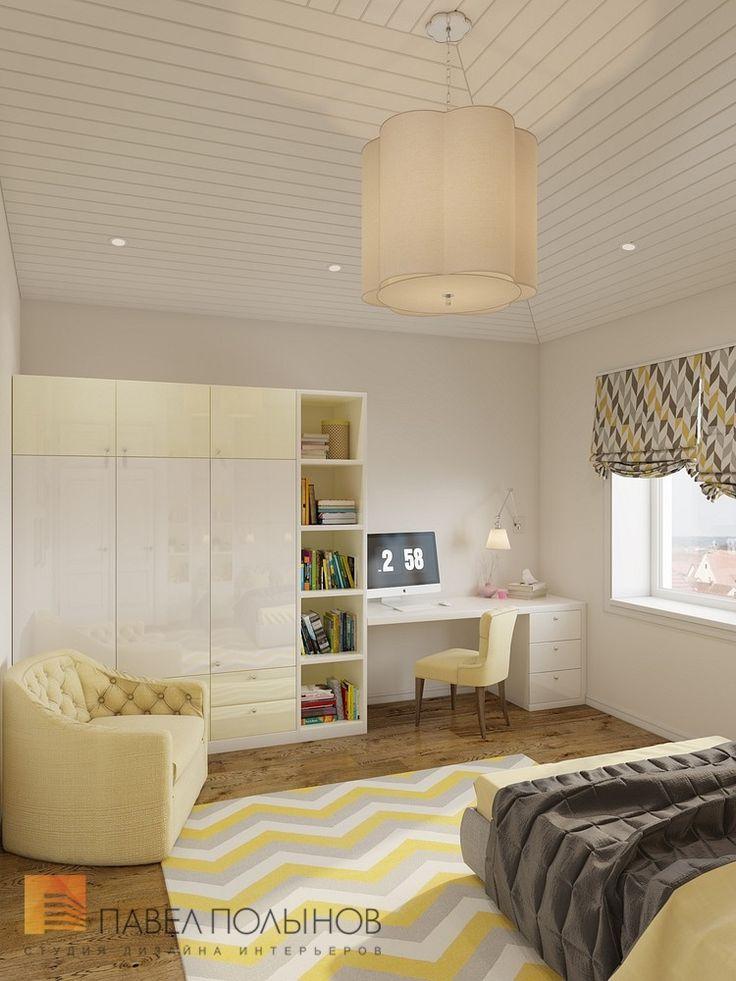 Фото: Дизайн детской комнаты - Интерьер загородного дома в стиле американской неоклассики, п. Токсово, 215 кв.м.