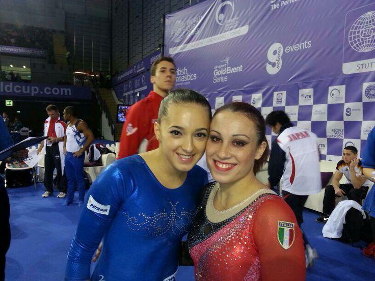 Larisa Iordache and Vanessa Ferrari