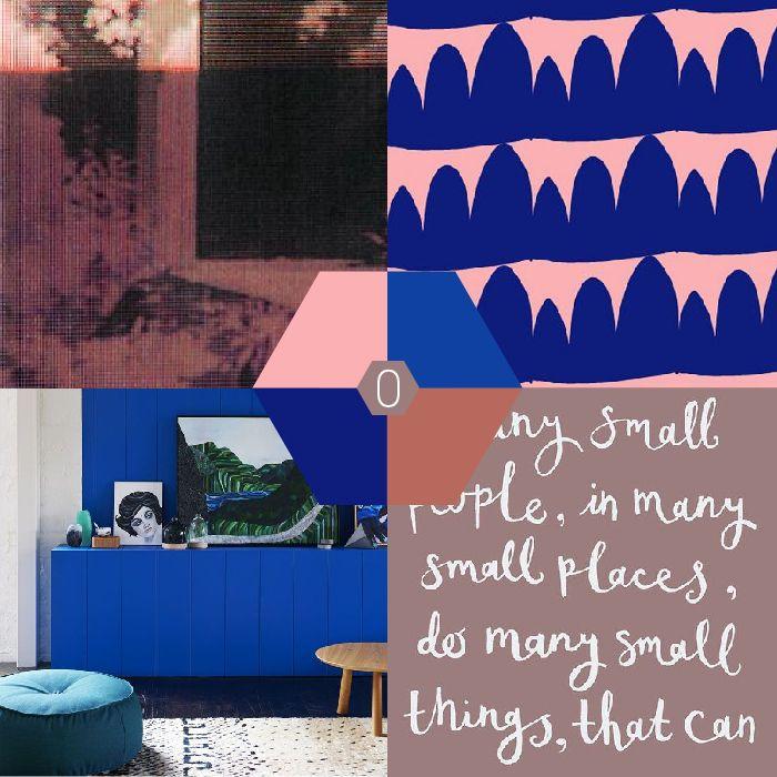 Kleur-palet: blauw-roze combi   Color Palette Blue Pink   OCHER