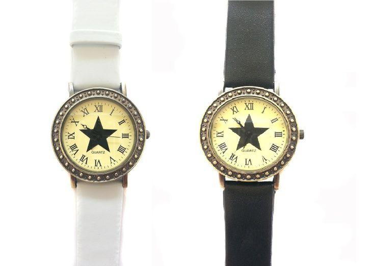 Reloj estrella y números romanos - PVP: 8.99€ - Más información en la web:http://ohlalabijoux.com/relojes/382-reloj-estrella-y-numeros-romanos.html