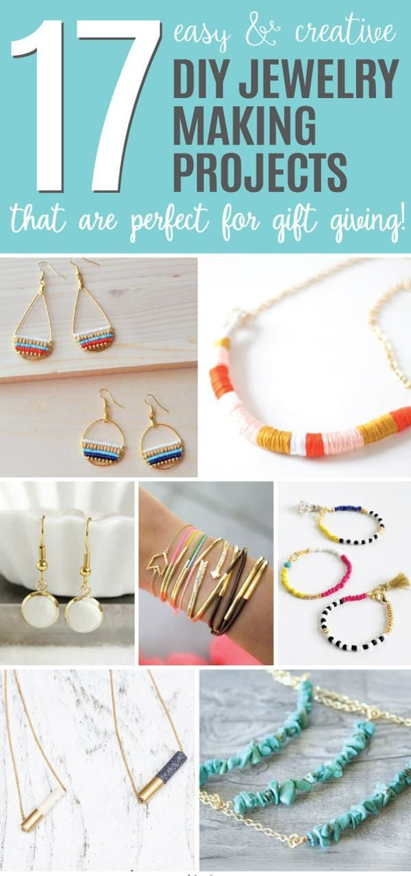 Best 25 diy jewelry making ideas on pinterest diy jewelry 17 easy and creative diy jewelry making projects perfect for gift giving fandeluxe Images
