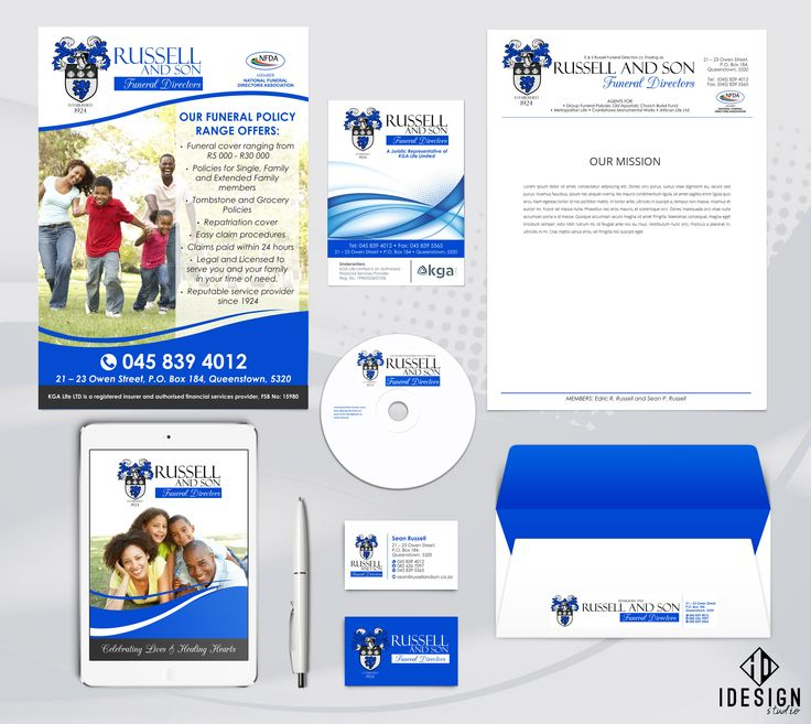 Corporate Identity designed for Russell & Son Funeral Directors.