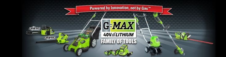 Save up to 30% Off Greenworks G-MAX 40-Volt Battery-Powered Lawn Mowers    Amazon deal of the day for 4/24/2014 only! Today only, save on the 40-volt lithium-ion-powered G-MAX lawn mowers from GreenWorks. A great alternative to gas-powered tools, the lightweight G-MAX line makes yardwork easier without sacrificing power.