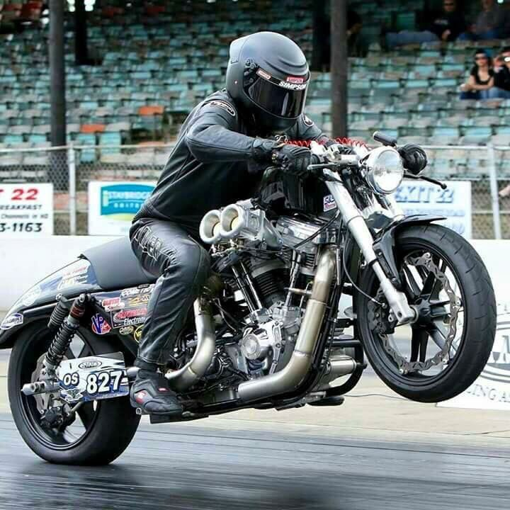 Turbo Harley Drag Race