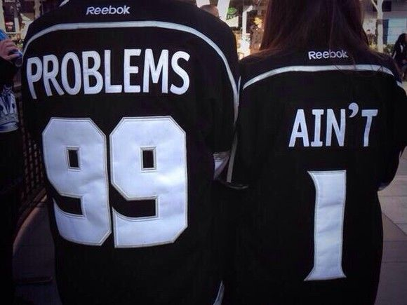 t-shirt couple clothing 99 problems aint 1 reebok jersey white black Reebok couple top cute baseball tee jersey 99 problems jersey shirt
