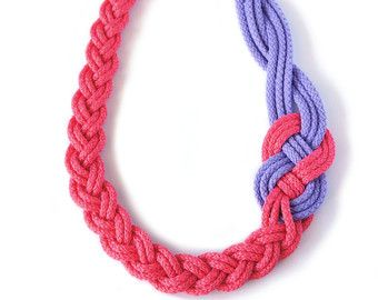 BRAIDED NECKLACESailor KnotNautical StyleYellow and by art2dress