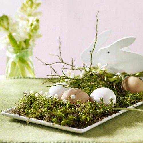 grass and eggs: Diy Ideas, Decor Crafts, Crafts Ideas, Easter Centerpieces, Decor Ideas, Easter Decor, Easter Eggs, Tables Decor, Easter Ideas