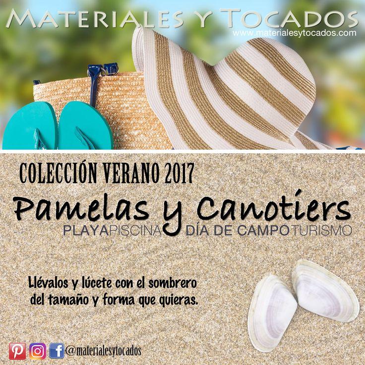 En Materiales y Tocados, disfruta de tu colección Verano 2017 de pamelas y canotiers para la playa, piscina, día de campo o turismo. Resurge la moda PIN UP en la que puedes obtener tu lado sexy y muy #femenino a través del maquillaje, accesorios y prendas tan sugerentes como nuestras #pamelas.  Reserva tu modelo online en nuestra web www.materialesytocados.com #verano2017 #verano #vacaciones #playa #beach #piscina #pool #pamela #canotier #diadeplaya #turismo #tiendaonline #tendencia #pinup…