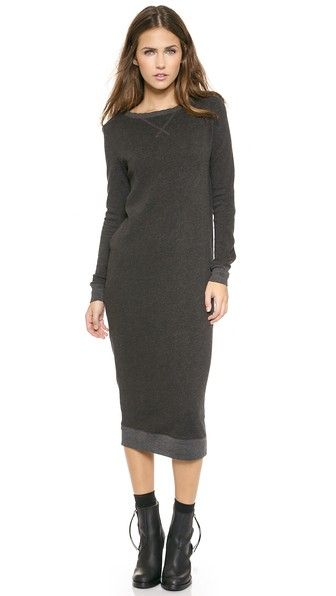 Anthony Thomas Melillo sweatshirt dress – I love this because it's nice and long, but it's expensive and sold out in my size. (A common theme)