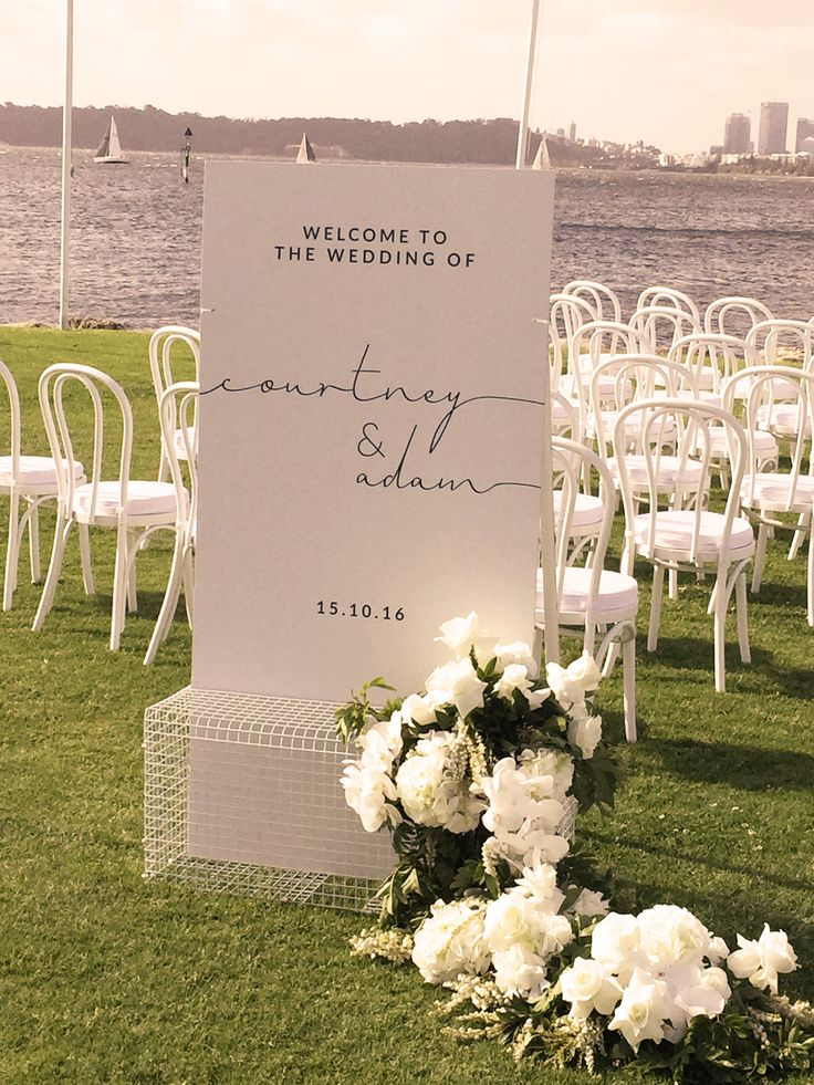 Wedding Ceremony on the Front Lawn at South of Pe rth Yacht Club
