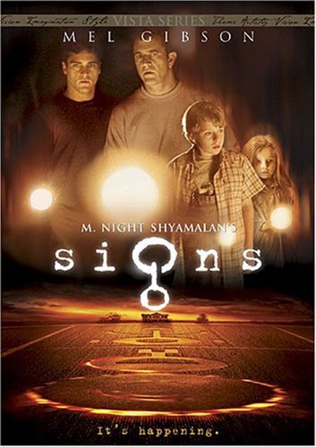 Signs (2002) Directed by my favorite director M. Night Shyamalan. Mel Gibson and…