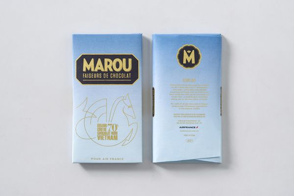 Marou Chocolate for Air France by Rice Creative, via Behance
