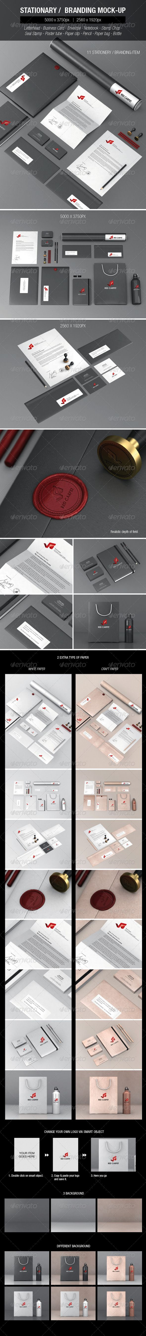 Stationery Branding Mock-ups Set 2 - Stationery Print