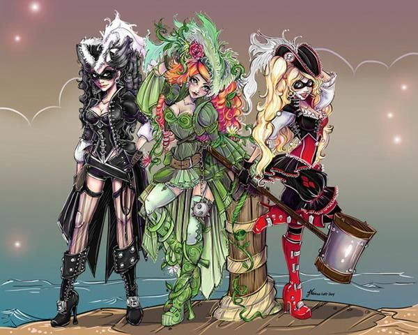 Catwoman, Poison Ivy, And Harley Quinn Get Pirate Makeovers
