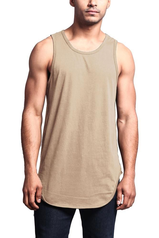 Summer Tank Tops Men Simple Casual Undershirt Casual Bodybuilding Vest T-shirt Z
