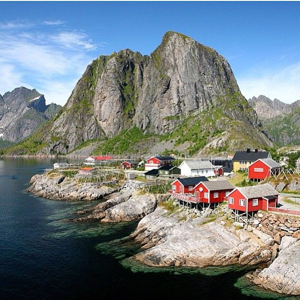 Hamnøy, Norway - the hostel we stayed at on the Lofoten Islands in Norway - possibly the most beautiful place I've been in the world, wish I could spend some more time there