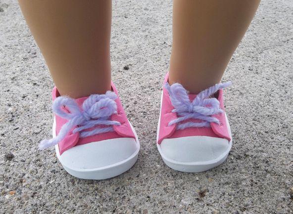 DIY doll converse sneakers