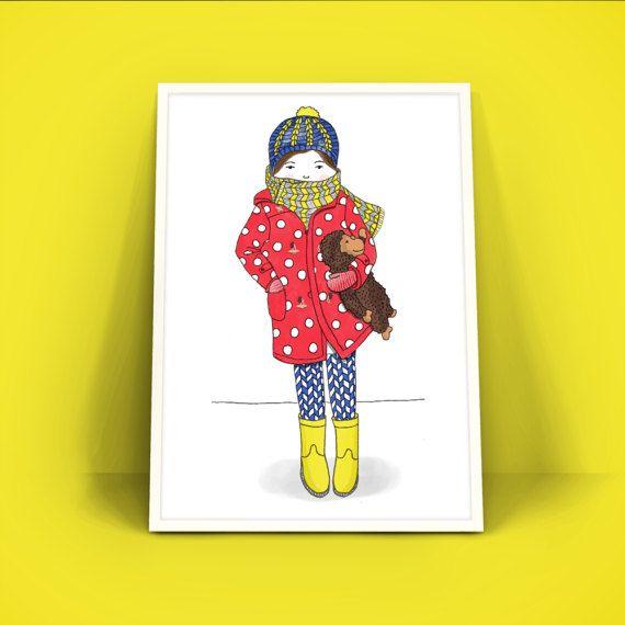Poster A4 Art Print - Klein meisje met knuffelaap - Mijn dochter Olivia en haar aap hebben model gestaan voor deze tekening. Dit is een print van een oorspronkelijk handgetekende illustratie (Illustratie Esther Mols.) die vervolgens gescand en gedigitaliseerd is. Prachtig in een lijst aan de muur.  • Details • Papier: gedrukt op 200 gram papier. Formaat DIN A4 (29,7 x 21 cm)  Werkelijke kleuren kunnen afwijken van de kleuren op het beeldscherm.  Vragen of opmerkingen? Stuur me een berichtje…