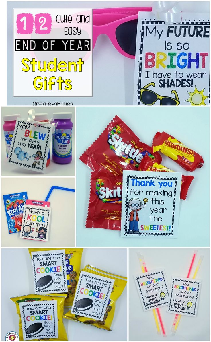 FREE End of Year Student Gift Tags! 12 different options!