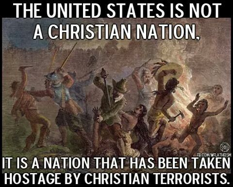 The US is not a Christian nation. History. Yes, its true- the perpetrators themselves documented this shit.